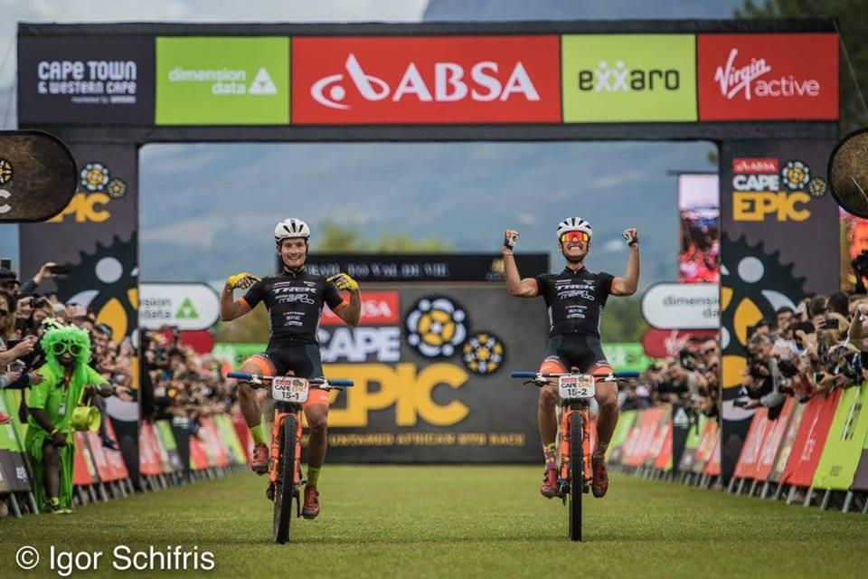 Michele Casagrande and Fabian Rabensteiner - Team Trek-Selle San Marco.