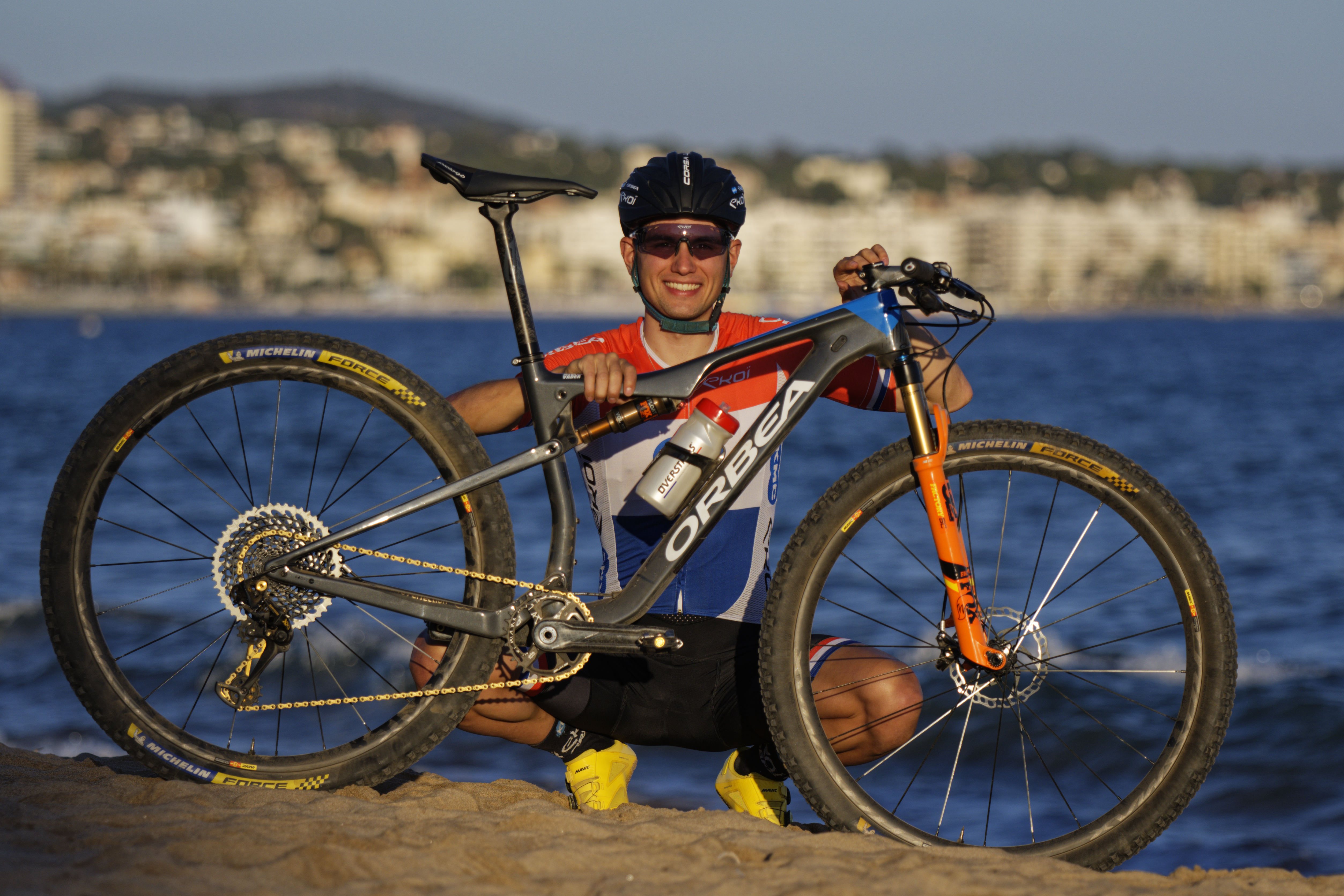 Milan Vader and his Orbea Oiz