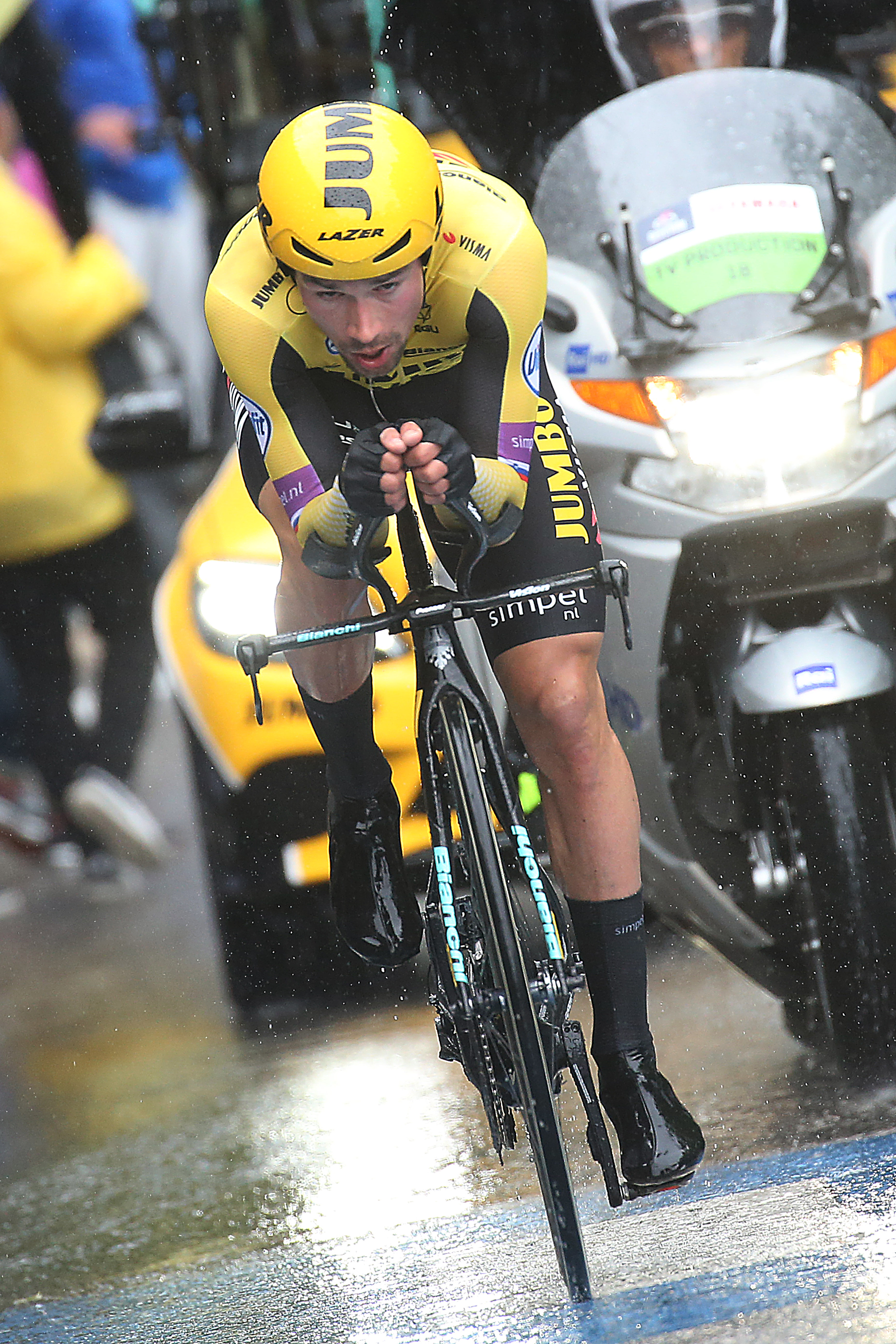 Roglic in action