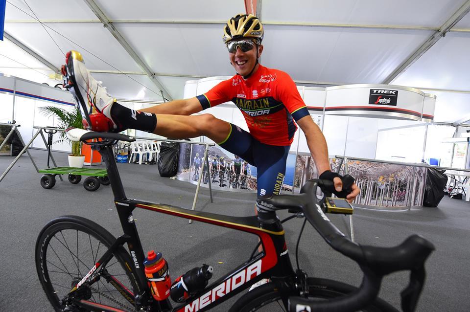 Ramunas Navardauskas, rider of Team Bahrain-Merida