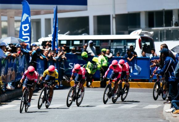 EF Pro Cycling during TTT stage at Tour of Colombia
