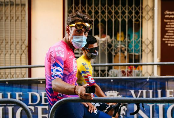 Alberto Bettiol at the start of Tour de France (Ph. Gruber)