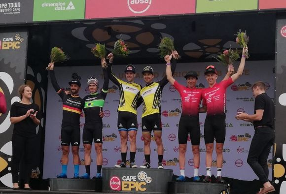 Men race podium