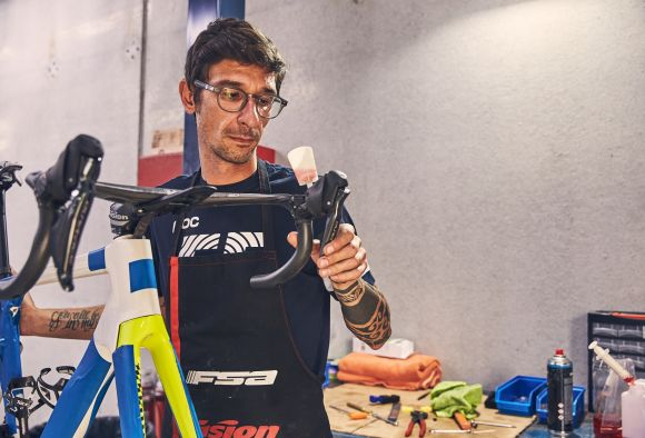 The setting of the new Cannondale bike