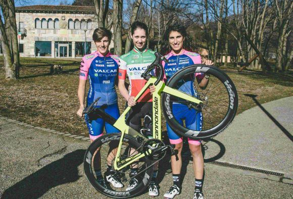 Valcar Cylance athletes Confalonieri, Cavallo and Balsamo (ph. Valcar)