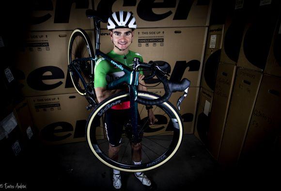 Gioele Bertolini and his bike with FSA & VISION parts.