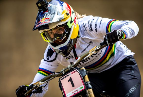 Rachel Atherton in action