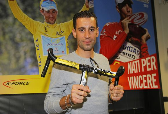 Vincenzo Nibali's customized handlebar