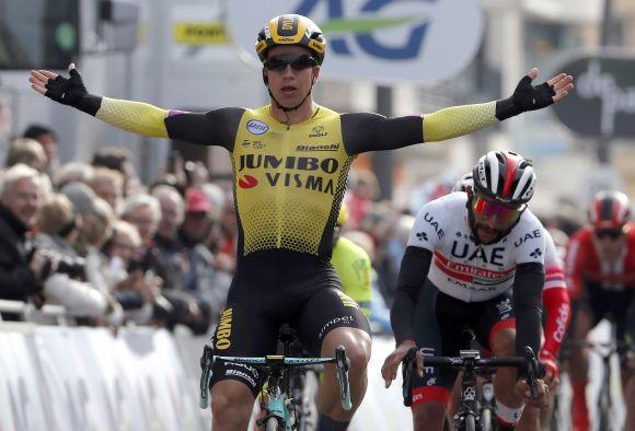 Dylan Groenewegen won at Paris-Nice with Metron 5D
