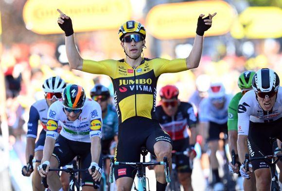Wout van Aert win Tour de France stage #5